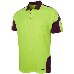 JB's Hi Vis S/S Arm Panel Polo Thumbnail