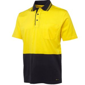 Hi Vis S/S Cotton Polo Thumbnail