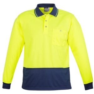Hi Vis Splices L/Sleeve Polo Thumbnail
