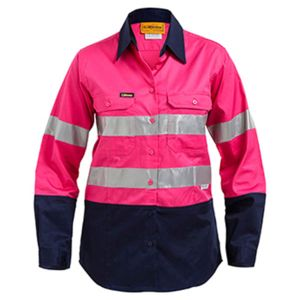 Womens 3M Taped Two Tone Hi Vis Cool Lightweight Shirt Thumbnail