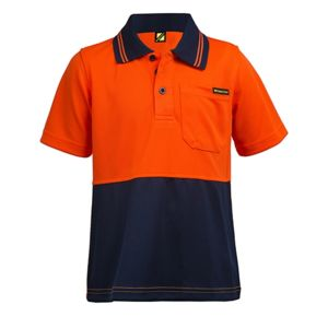 Kids Hi Vis Two Tone Short Sleeve Polo Thumbnail