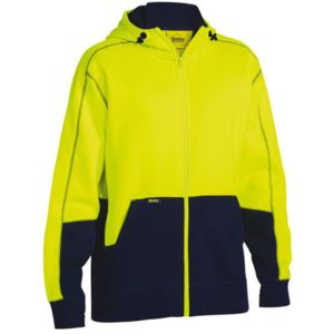 Bisley Hi Vis Two Tone Fleece Hoodie Thumbnail