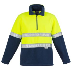 Syzmik Mens Hi Vis Fleece Jumper - Hoop Taped Thumbnail
