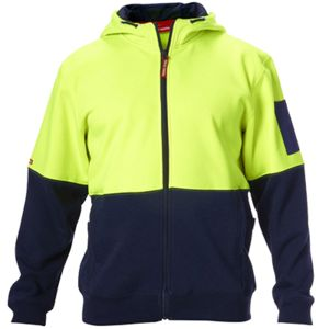 Hard Yakka Hi Vis Full Zip Brushed Cotton Thumbnail
