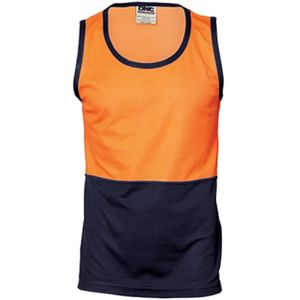DNC Cotton Back 2 Tone Singlet Thumbnail