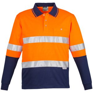 Mens Hi Vis Spliced Polo L/S Hoop Tape  Thumbnail