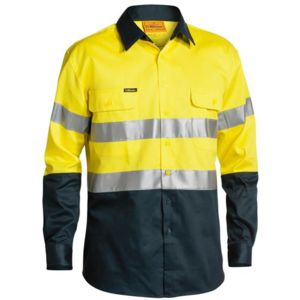 Bisley Hi Vis Drill Shirt 3M Tape Long Sleeve Thumbnail