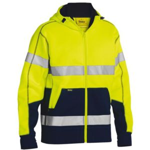 Bisley Hi Vis Fleece Hoodie Taped Thumbnail