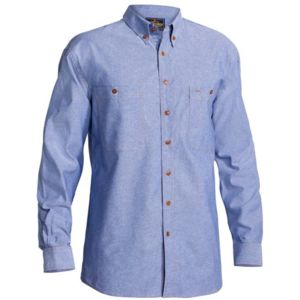 Bisley Chambray Shirt Long Sleeve Thumbnail