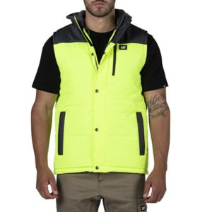 Cat Hi Vis Hooded Work Vest Thumbnail