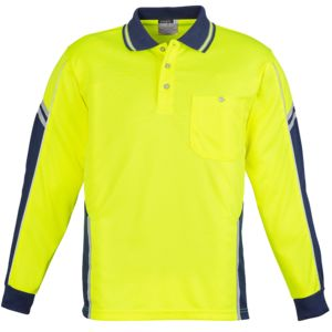 Syzmik Hi Vis Squad Long Sleeve Polo Thumbnail