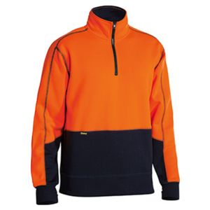 Bisley Hi Vis Fleece Quarter Zip Jumper Thumbnail