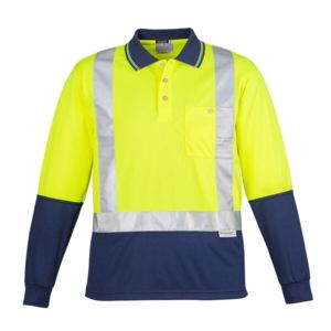 Syzmik Hi Vis Taped Spliced Long Sleeve Polo Thumbnail