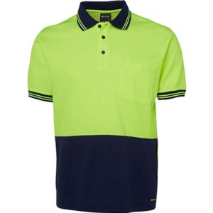 JB's Hi Vis Cotton Back Short Sleeve Polo Thumbnail