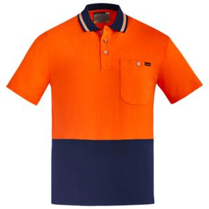 Syzmik Hi Vis Cotton Short Sleeve Polo Thumbnail