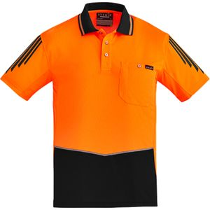 Syzmik Hi Vis Flux Short Sleeve Polo  Thumbnail