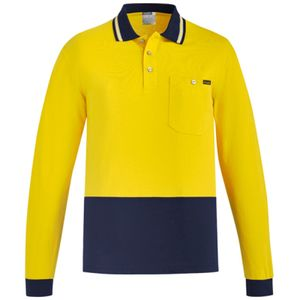 Syzmik Hi Vis Cotton Long Sleeve Polo  Thumbnail