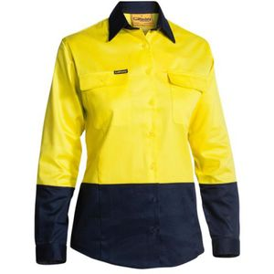 Bisley Women's Hi Vis Long Sleeve Drill Shirt Thumbnail